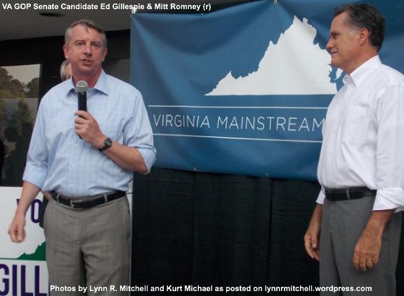 Ed Gillespie and Mitt Romney