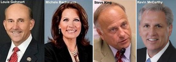 Gohmert, Bachmann, King, McCarthy