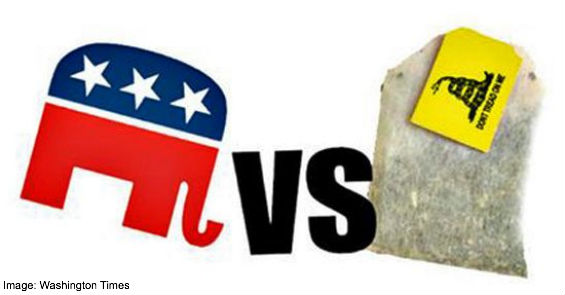 GOP vs tea party