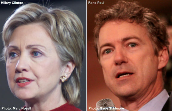 Hillary Clinton and Rand Paul