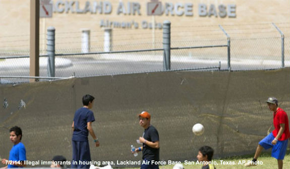 Illegals at a TX Air Force Base