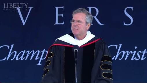 Jeb Bush speaking at Liberty University