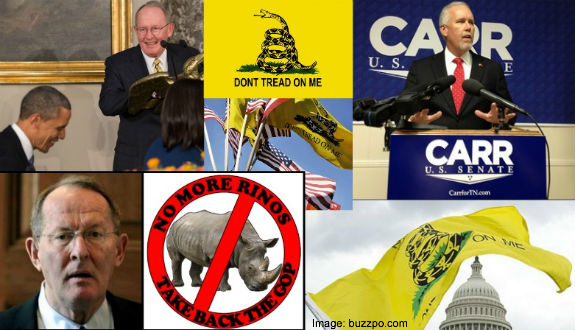 Joe Carr Lamar Alexander Tea Party Collage