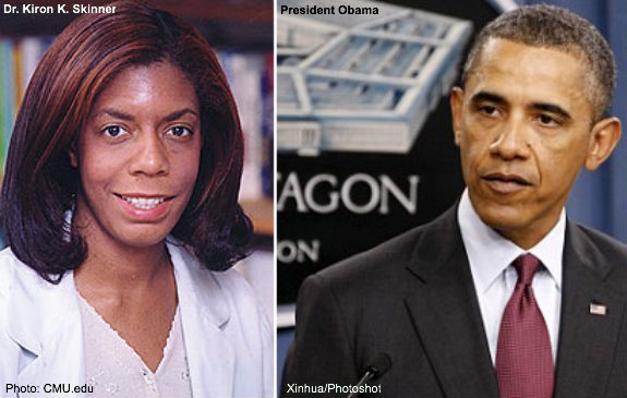 Dr Kiron Skinner and Obama