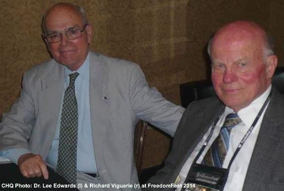 Dr. Lee Edwards and Richard Viguerie