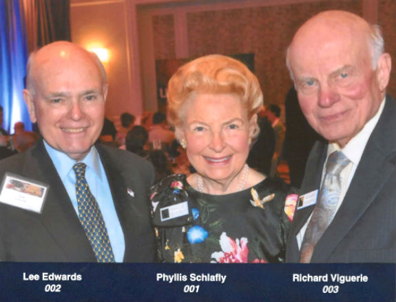 Lee Edwards, Phyllis Schlafly, Richard Viguerie