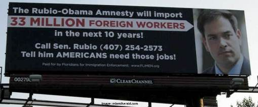 Rubio foreign worker billboard