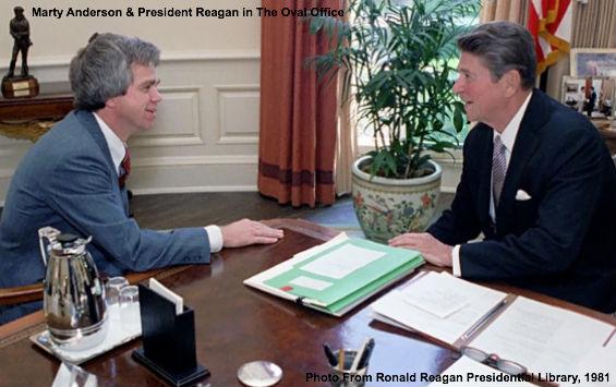 Marty Anderson and Reagan