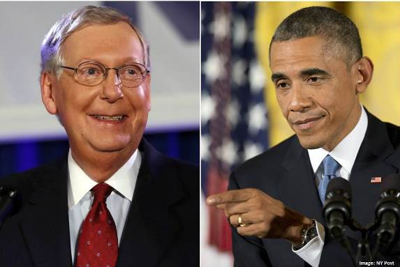 Surrender Monkey Mitch McConnell and far-Left President Barack Obama