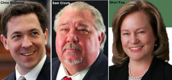 Chris McDaniel, Sam Clovis, Sheri Few