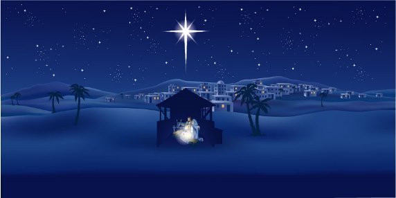 Over the Christmas Manger is the Cross