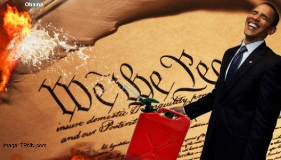 Obama Burns the Constitution