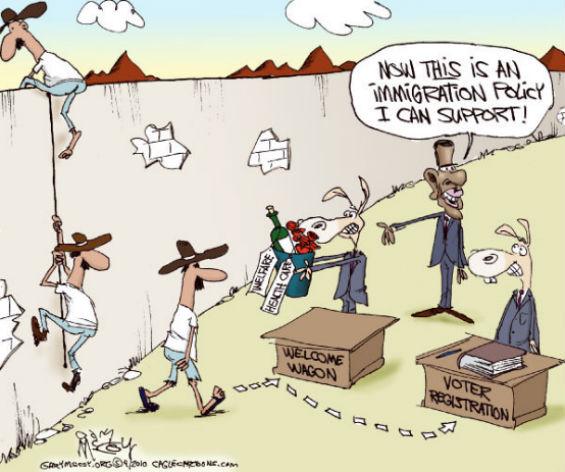 obama immigration cartoon