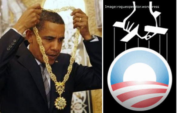 Obama's Necklace from King Abdullah