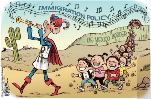 obama pied piper of illegals