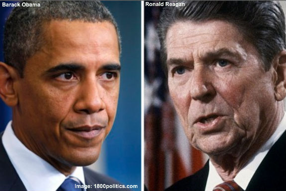 reagan vs obama And all the while under reagan, there was double the consumer price inflation as under the comparable obama period (26% vs 13%) interest rates were higher prime was at 75% in september 1986, in contrast to today's 33.