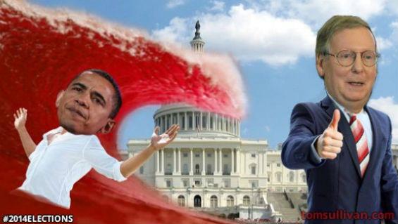 Republican wave hits obama