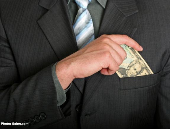 politicians pocket big biz money