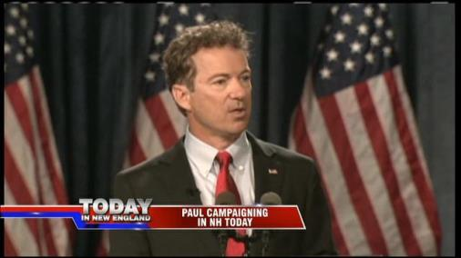 Rand Paul Campaigning In New Hampshire