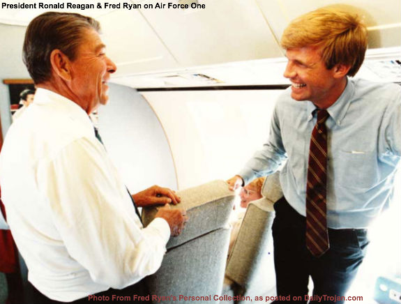 Ronald Reagan and Fred Ryan