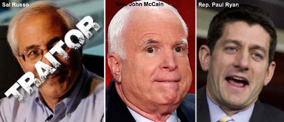 Sal Russo, John McCain, Paul Ryan