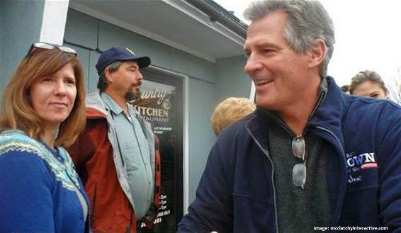 Scott Brown door-to-door campaign