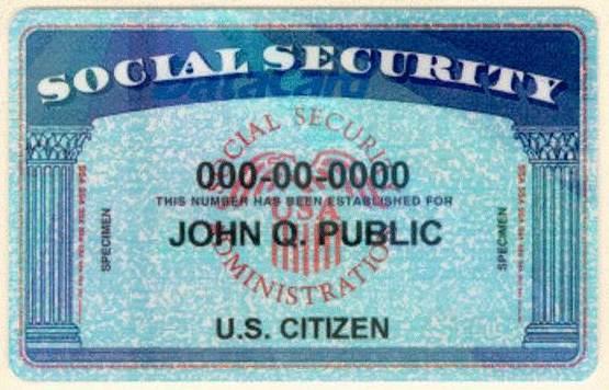 Social Security Card Sample