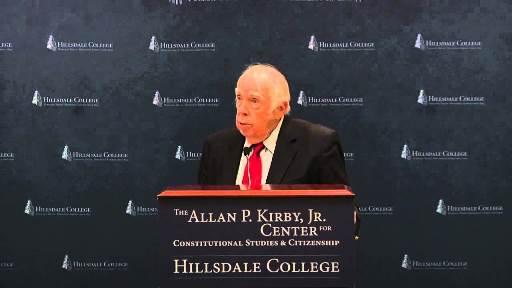 M. Stanton Evans Speaks At Hillsdale College