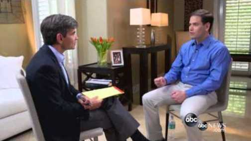 ABC anchor George Stephanopoulos and Senator Marco Rubio