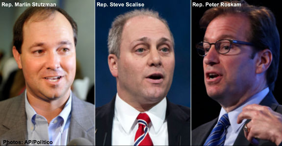 Reps. Stutzman, Scalise, and Roskam