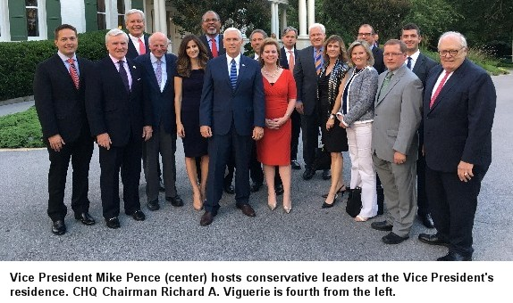 conservative leaders at vp residence