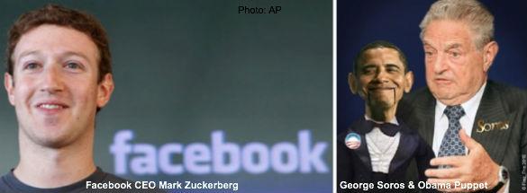 Zuckerberg, Obama, Soros